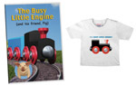 Busy Little Engine™ wooden train engine and cars